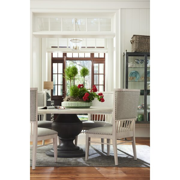 Tennille Fabric 5 Piece Solid Wood Dining Set by August Grove