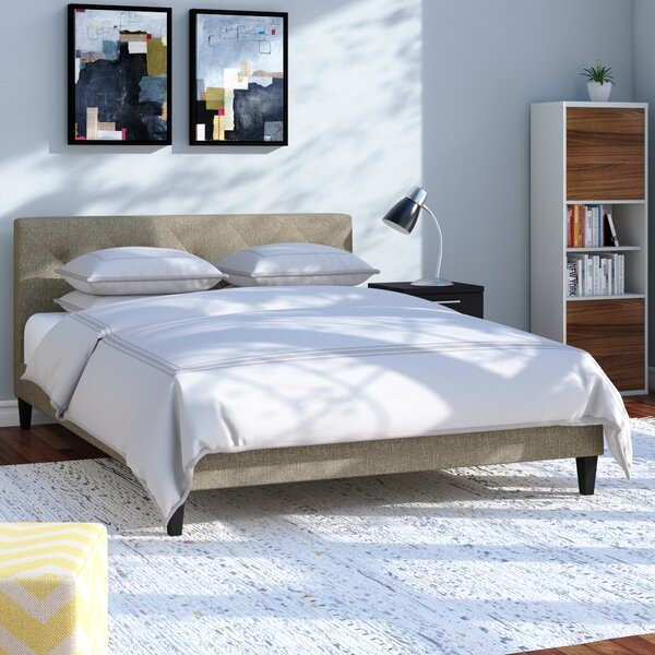 Feliciano Upholstered Platform Bed by Wrought Studio