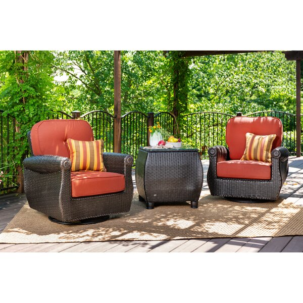Breckenridge 3 Piece Rattan Outdoor Patio with Sunbrella Cushions by La-Z-Boy