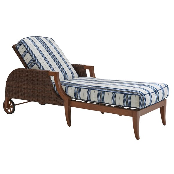 Harbor Isle Reclining Chaise Lounge with Cushion