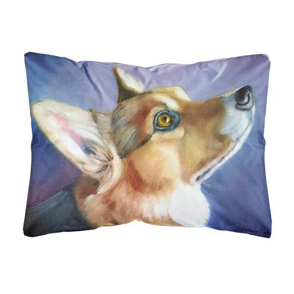 Schwindt Corgi Devotion Fabric Indoor/Outdoor Throw Pillow by Winston Porter