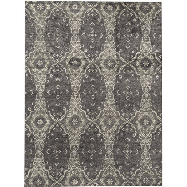 Hand-Knotted Wool Charcoal Area Rug