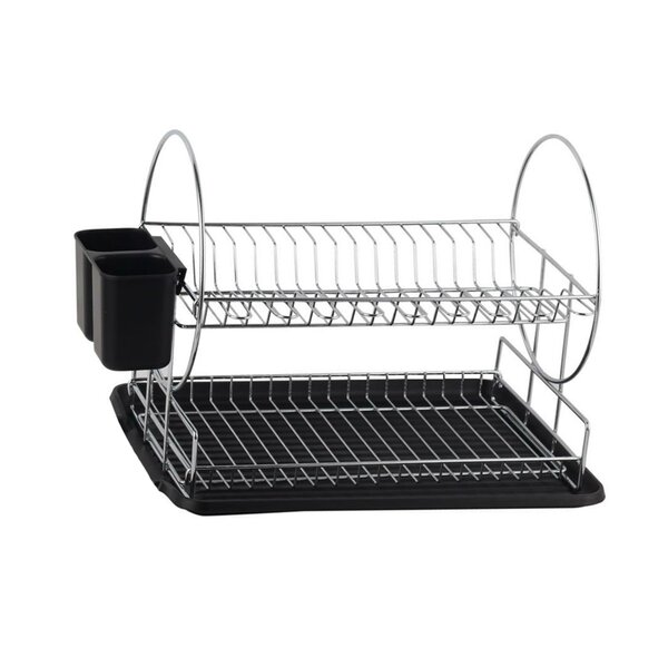Deluxe 2-Tier Dish Rack by Diamond Home