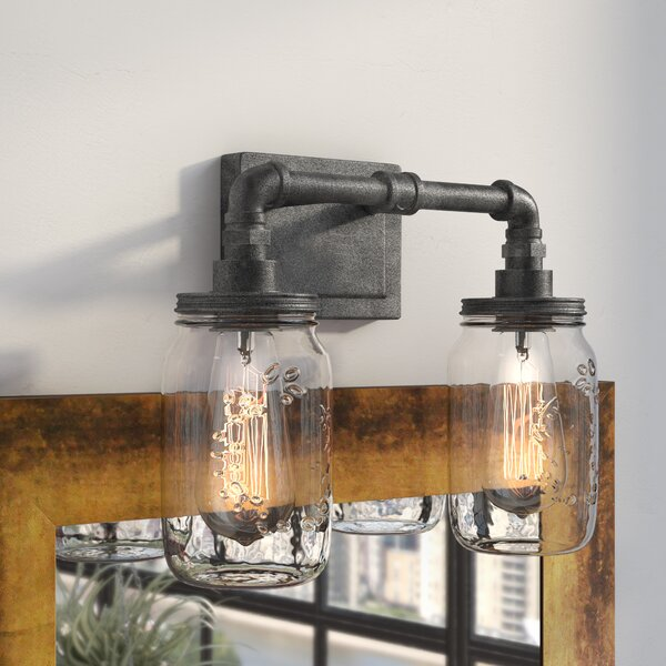 Brys Rustic Black 2-Light Vanity Light by Trent Au
