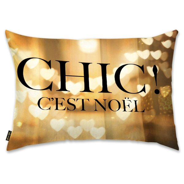 Chic Noel Lumbar Pillow by Mercer41