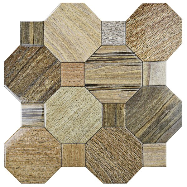 Meaco 17.75 x 17.75 Ceramic Wood Look Tile in Brown by EliteTile