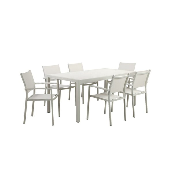 Rivale Anodized Aluminum Outdoor 7 Piece Dining Set by Orren Ellis