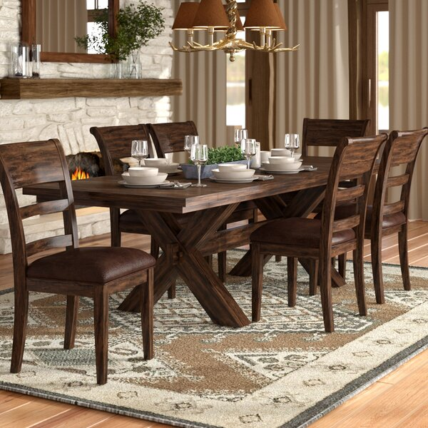 Burnsdale 7 Piece Dining Set by Loon Peak