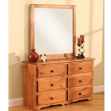 Cambridge 6 Drawer Double Dresser with Mirror by Chelsea Home