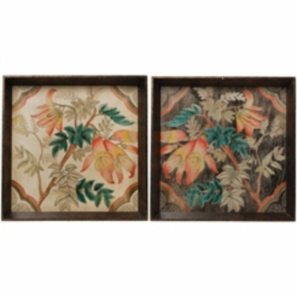 Mclendon Well-Made Square Wooden 2 Piece Accent Tray Set by Bloomsbury Market