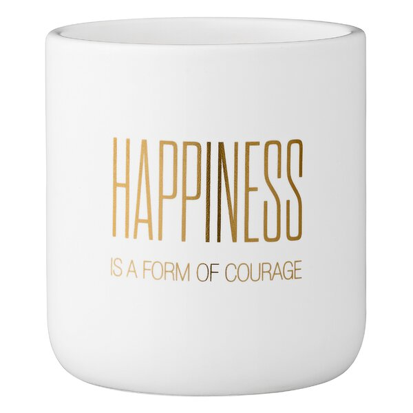 Mellott Happiness Is a Form of Courage Ceramic Pot Planter by Wrought Studio