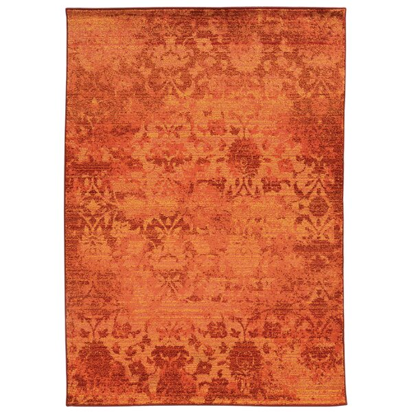 Expressions Oriental Orange Area Rug by Pantone Universe