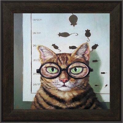 Feline Eye Exam' Framed Acrylic Painting Print Propac Images -  7715