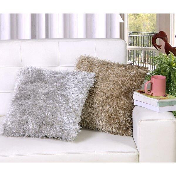 Gaertner Silky Shag Throw Pillow by Ebern Designs