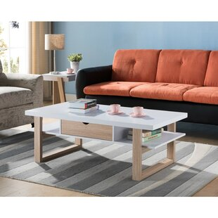 Mccollum Two-Tone Wooden Coffee Table with Storage