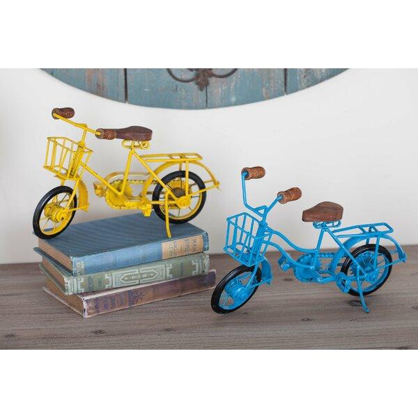 Metal/Wood Bicycle 2 Piece Sculpture Set by Cole & Grey