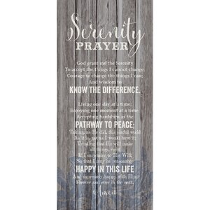 'Serenity Prayer…' Textual Art Plaque by Winston Porter