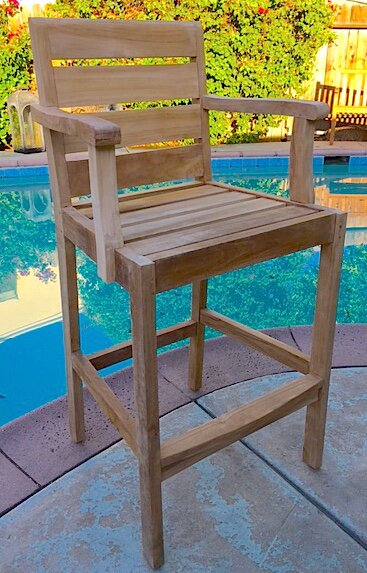 Borneo Teak Patio Bar Stool by Trijaya Living