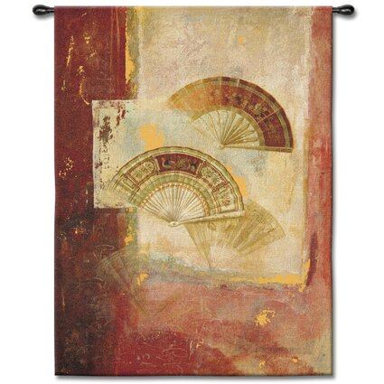 Abstract Fan Abstract by Fabrice DeVilleneuve Tapestry by Fine Art Tapestries