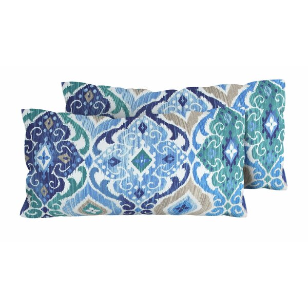Cobalt Outdoor Lumbar Pillow (Set of 2) by TK Classics| @ $90.00