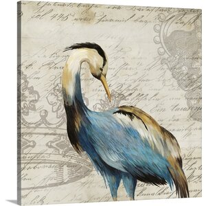 'Heron I' by Aimee Wilson Graphic Art Print on Canvas by Great Big Canvas