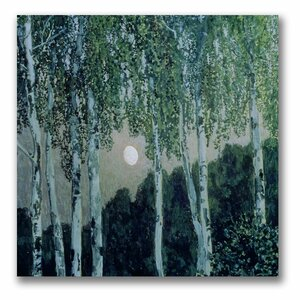 Birch Trees by Aleksandr Golovin Painting Print on Canvas by Trademark Fine Art