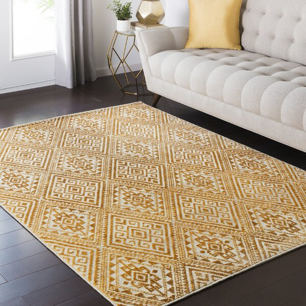 Tierney Yellow Area Rug by Mistana