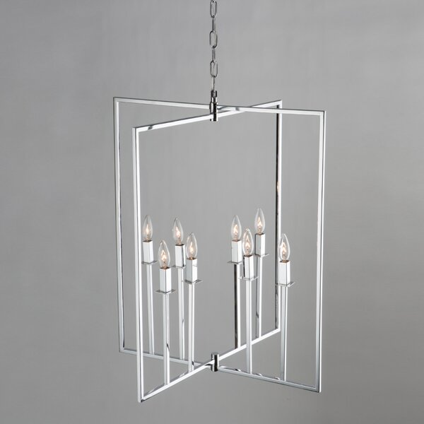 Allston 8-Light Candle Style Rectangle / Square Chandelier by Artcraft Lighting Artcraft Lighting