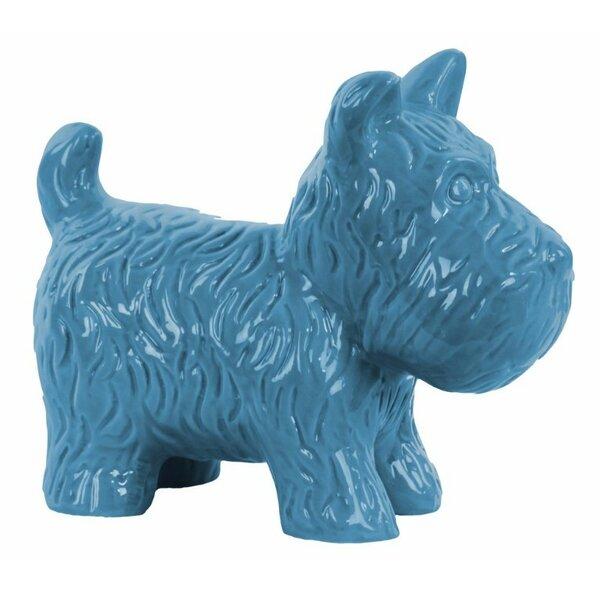 Harper Ceramic Standing Welsh Terrier Dog Figurine by Wrought Studio