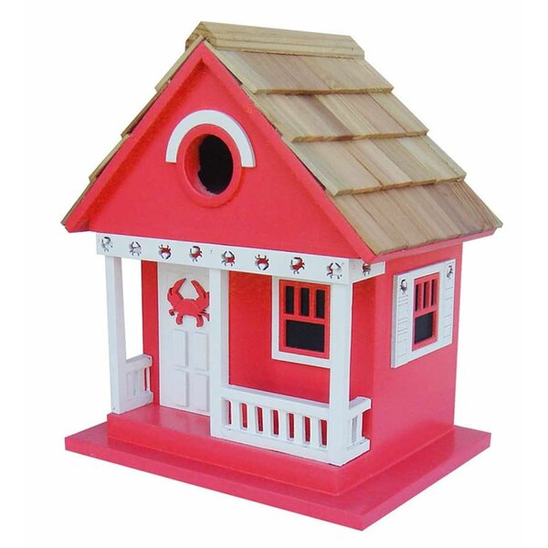 Wood Beach Cottage 9.5 in x 8.5 in x 6.5 in Birdhouse by Wind & Weather