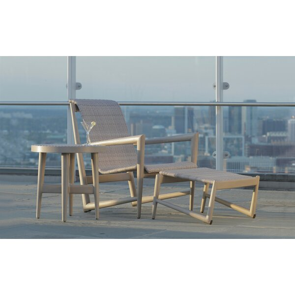 Wind Patio Chair with Ottoman and Side Table by Summer Classics