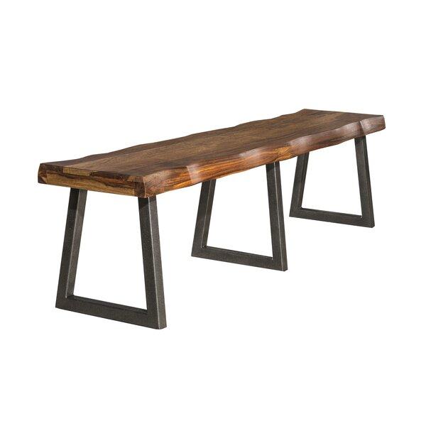 Linde Wood Bench by Brayden Studio