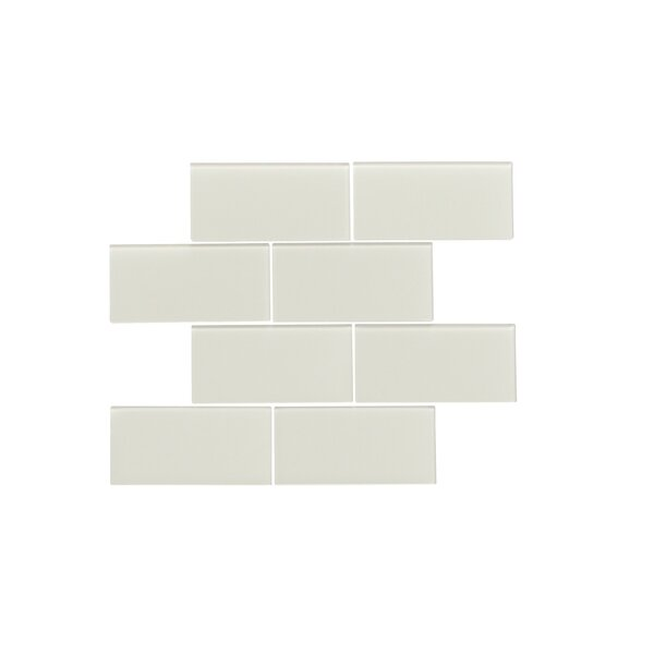 Quality Value Series 3 x 6 Glass Subway Tile in Glossy Icy Gray by WS Tiles
