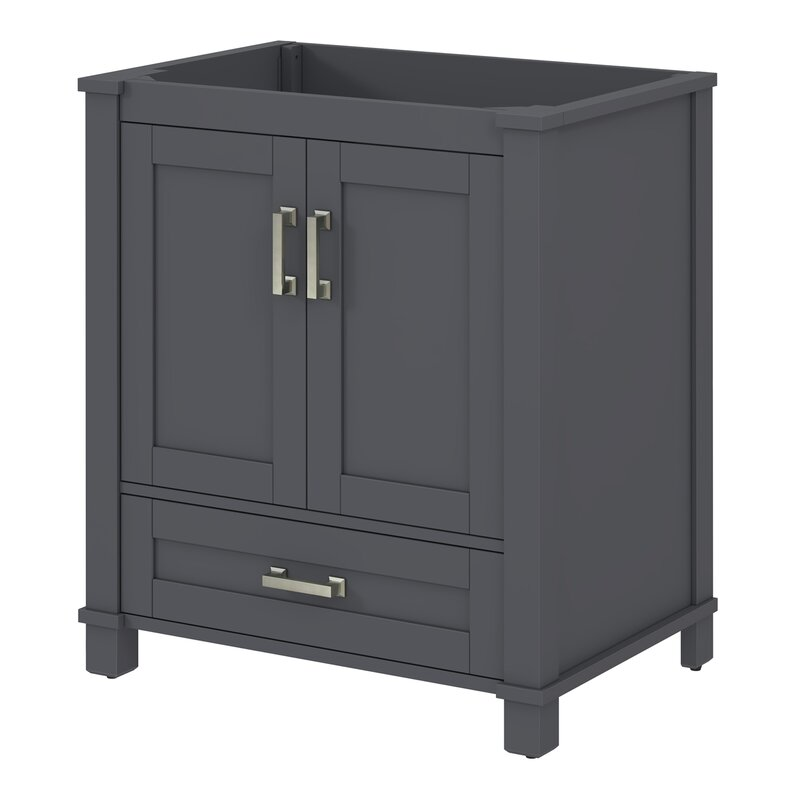 Bello freestanding style 30 single sink bathroom vanity base reviews wayfair for Freestanding 24 inch bathroom vanity