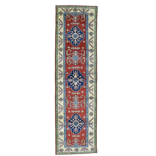 One-of-a-Kind Tillotson Hand-Knotted Blue/Red Area Rug by Millwood Pines