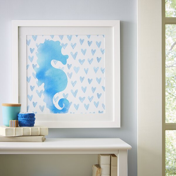 Seahorse Watercolor Sea Creatures Framed Print by Birch Lane Kids™