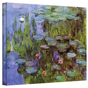 'Sea Roses' by Claude Monet Painting Print on Canvas by Alcott Hill