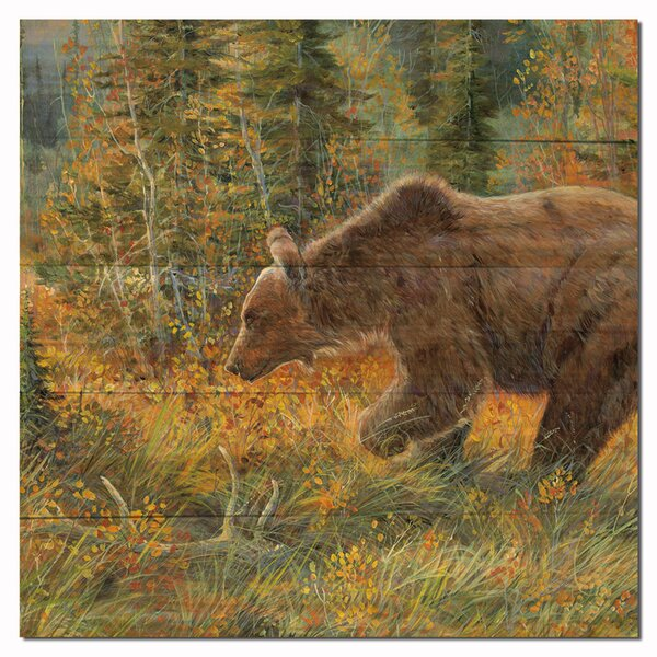 The Grizzly Walk by Valeria Yost Painting Print Plaque by WGI-GALLERY