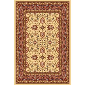 Mishawaka Cream/Red Area Rug