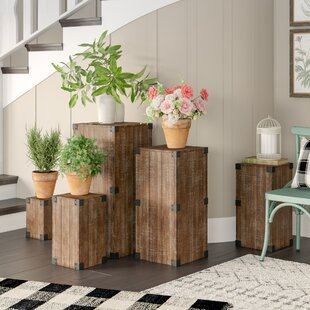 Coupon Harland 5 Piece Pedestal Plant Stand Set By Gracie Oaks