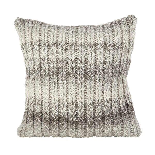 Boykins Hand Knit Ombre Wool Throw Pillow by Greyleigh