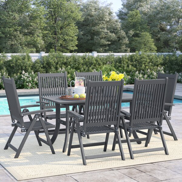 Shelbie 7 Piece Dining Set by Sol 72 Outdoor