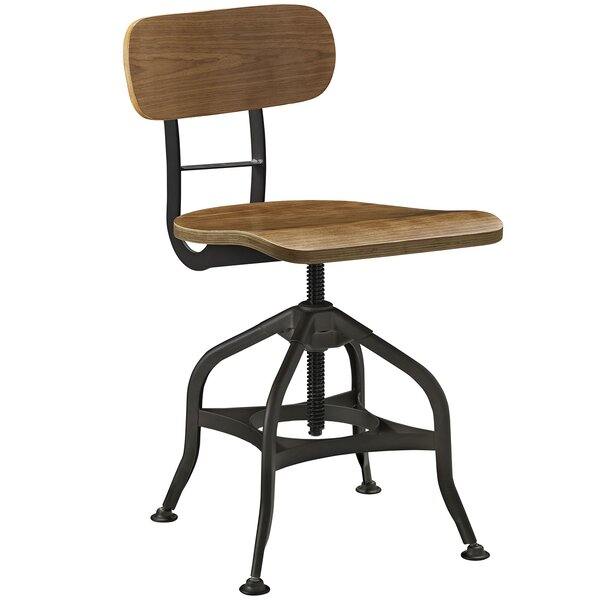 Adjustable Height Swivel Dining Stool by Modway