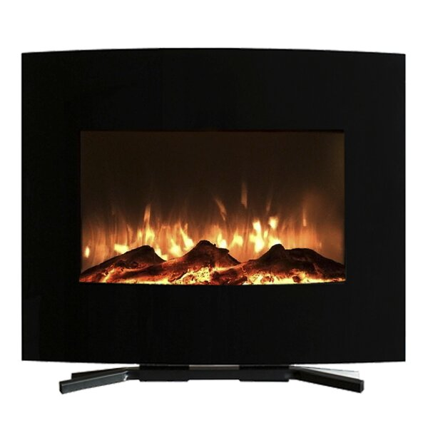 Raynor Curved Wall Mounted Electric Fireplace By Orren Ellis