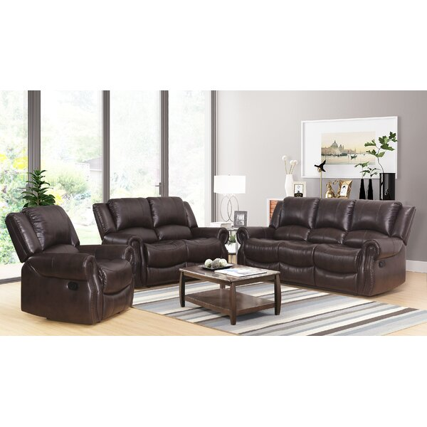 Digiovanni Reclining 3 Pieces Living Room Set by Red Barrel Studio