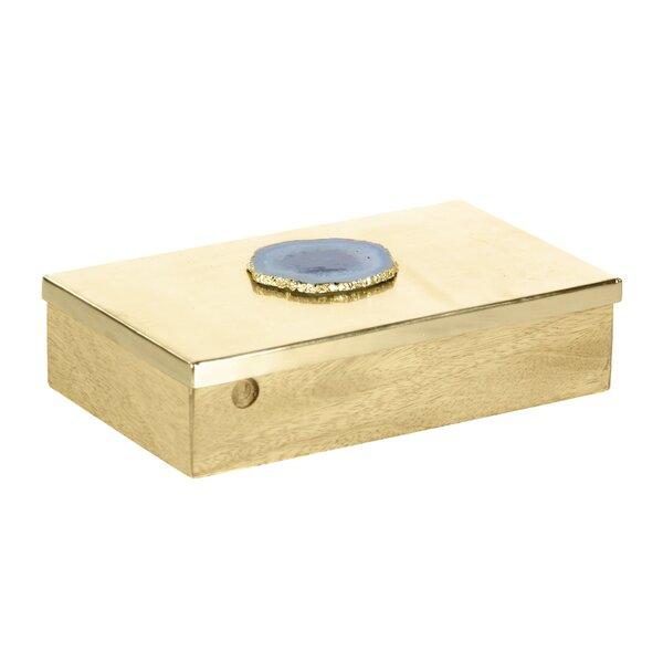 Davy Wood/Metal Decorative Box by Wade Logan