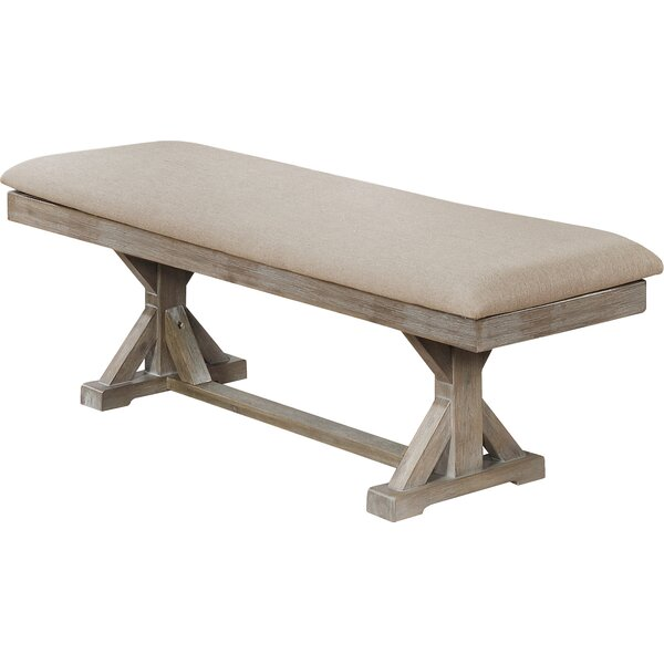 Buford Upholstered Bench by Canora Grey Canora Grey