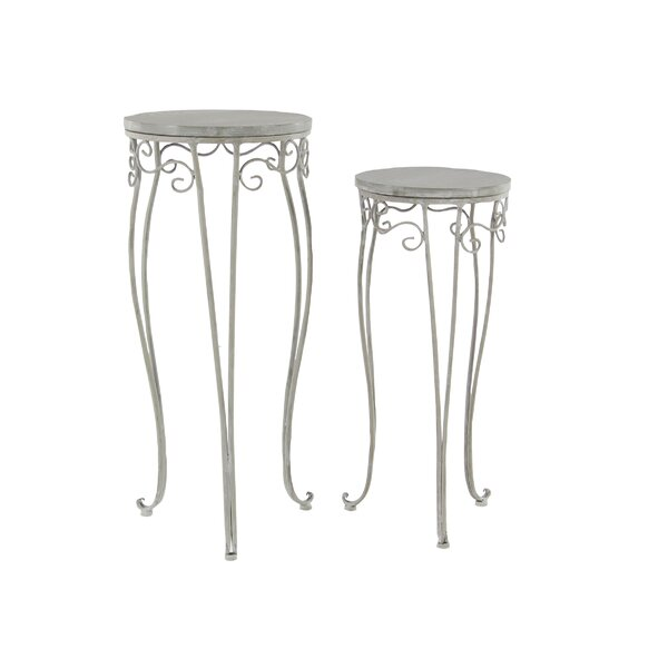 Traditional Round 2 Piece Plant Stand Set by Cole & Grey