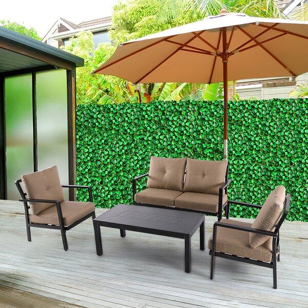 Coastview 4 Piece Sofa Set With Cushions By Fleur De Lis Living