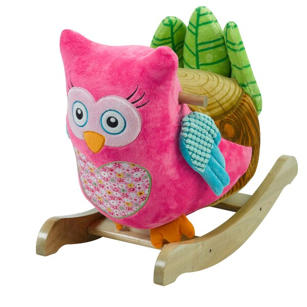 Owlivia Pink Owl Rocker by Rockabye